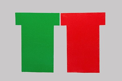 Red Green Tee Cards Small Tab