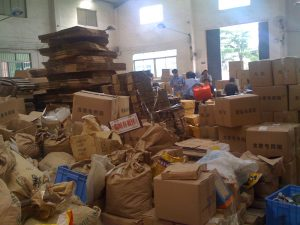 Hopefully your packaging area is a bit better organised than this but we find that Lean flow often falls apart at the packaging step
