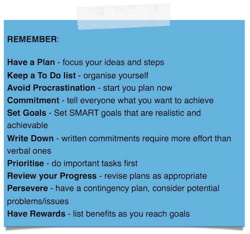 ACTION PLAN REMINDERS