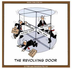 Management revolving door
