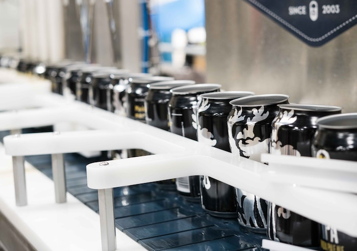 Cans on Assembly line