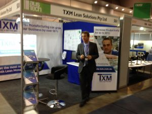 TXM Managing Director, Tim McLean at NMW2014 where over 200 people visited the TXM stand.