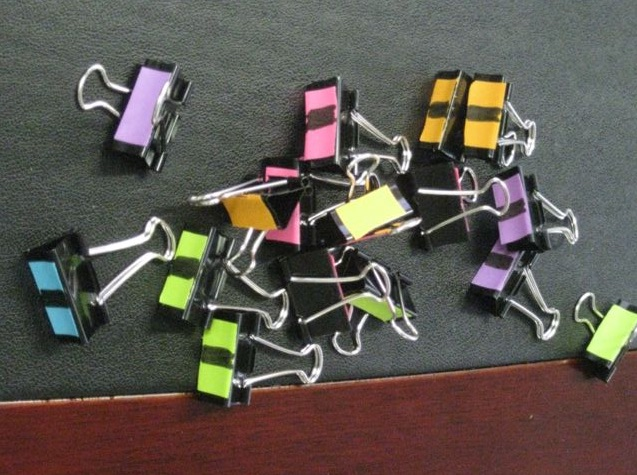 colour coded clips