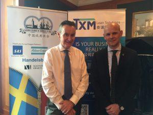 Tim with Oscar at Swedish chamber