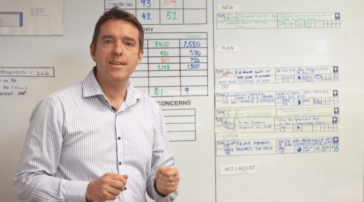TXM Lean Minutes – Managing Problem Solving Concern Strips in your Daily Meetings