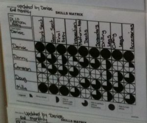 Example Skills Matrix Photo