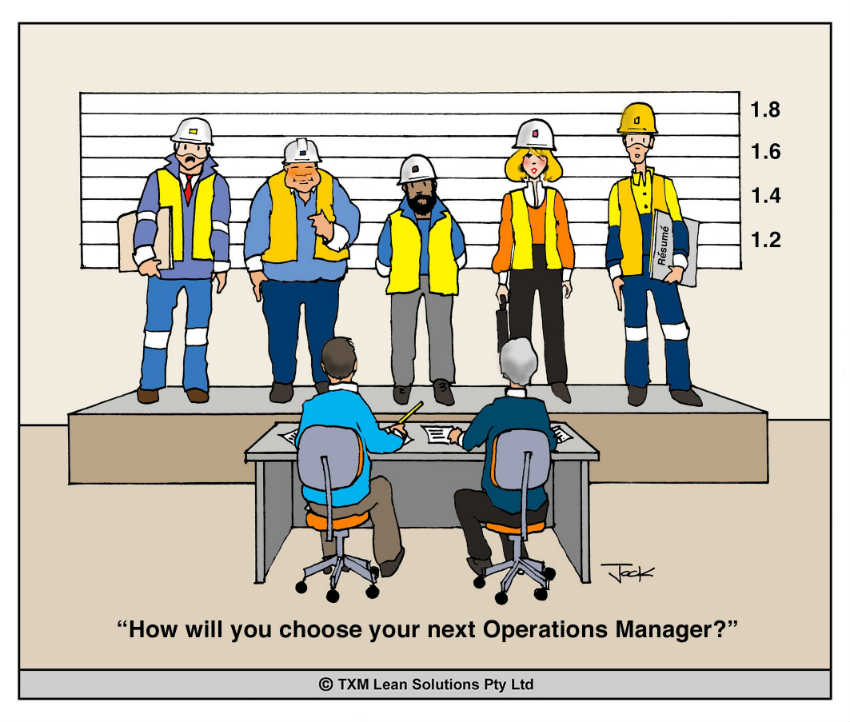 selecting and operations manager cartoon