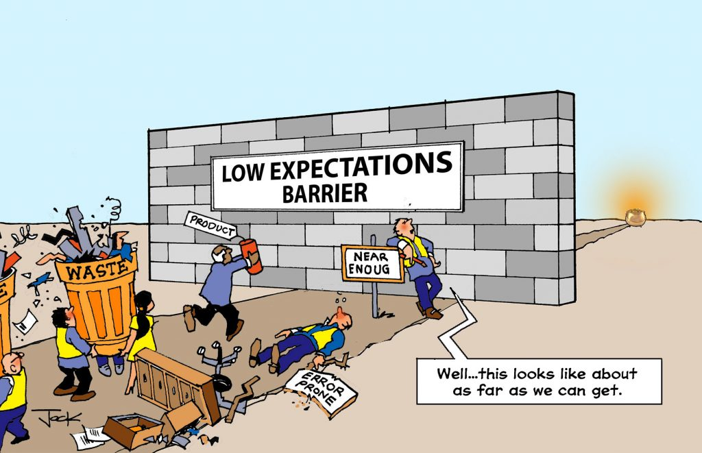 image for low expectations lean culture blog