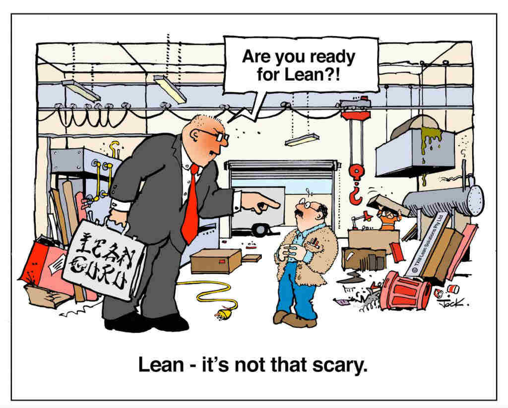Cartoon for Are You ready for Lean