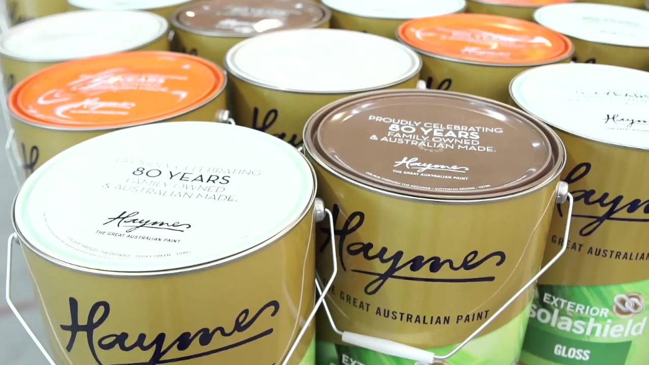 Paint Cans at Haymes Paint