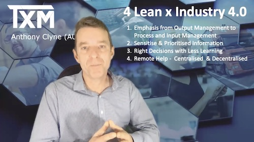 TXM Television – Episode 60 – 4 Lean Tips for Industry 4.0